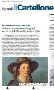 Mostra d'arte Peintre de famille su Corriere della Sera