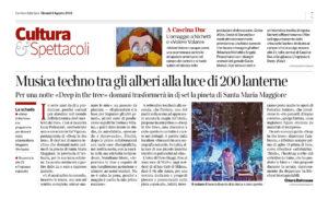 Deep in the Tree su Corriere Torino