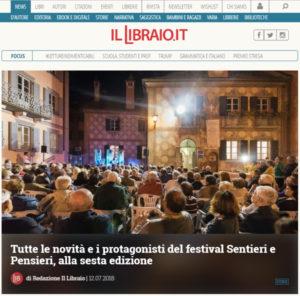 Sentieri&Pensieri 2018 su Il Libraio