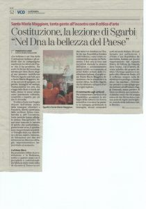 Vittorio Sgarbi per Sentieri e Pensieri su La Stampa