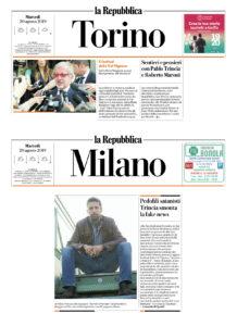 Sentieri&pPensieri su La Repubblica MIlano e Torino
