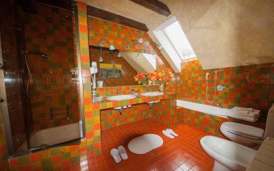 Uno dei bagni del B&B Luce del Mattino