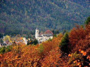 Vista di Santa Maria Maggiore in autunno