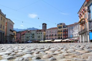 Piazza Grande a Locarno, in Svizzera