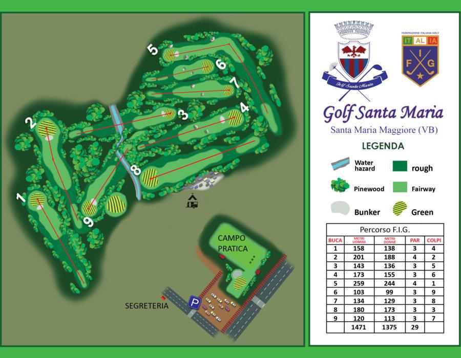 Golf Santa Maria - il campo