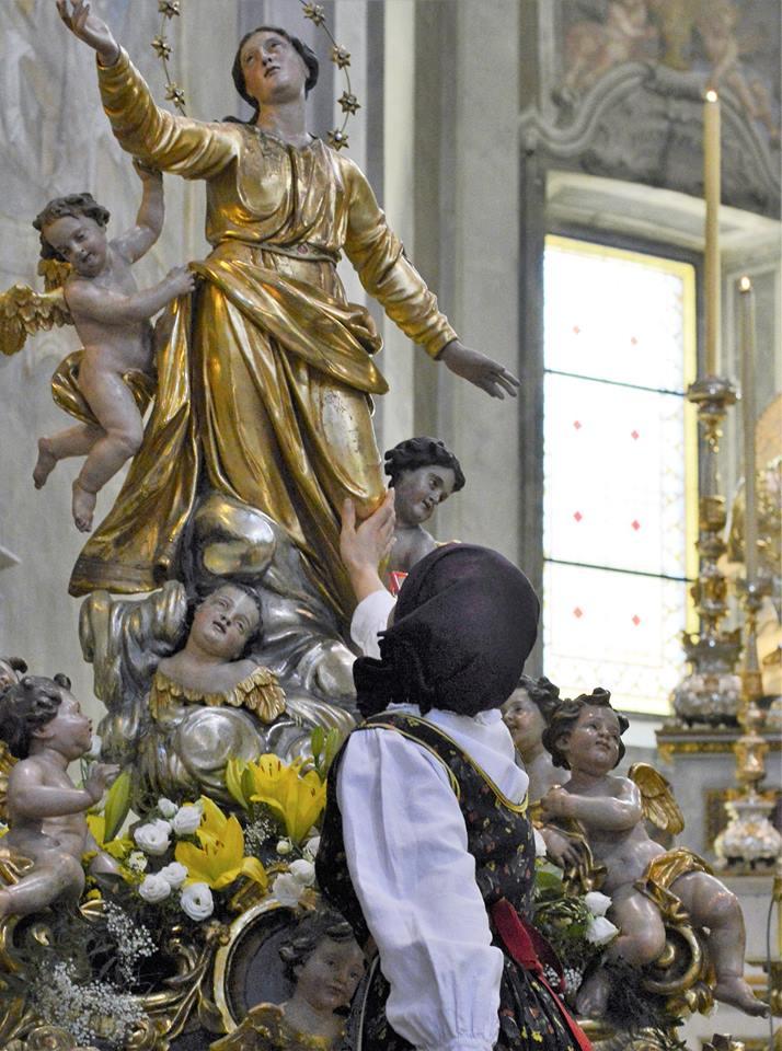 La processione dell'Assunta a Santa Maria Maggiore
