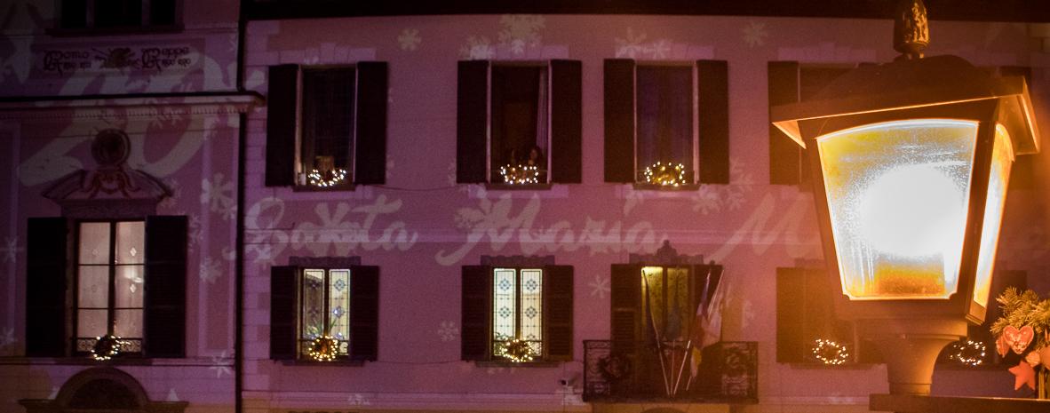 Videomapping a Villa Antonia - ph. Massimo Bertina