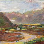 """Santa Maria Maggiore, Mostra """"Collezioni svelate. Valle Vigezzo andata ritorno"""": Max Ponti, La piana dell'Ossola vista da Crosiggia, 1905"""