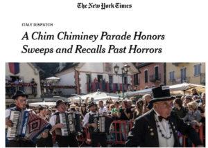 Raduno Internazional dello Spazzacamino su New York Times