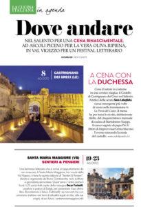 Sentieri&Pensieri - Santa Maria Maggiore su La Cucina Italiana
