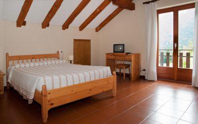 Una delle stanze dell'Hotel La Jazza