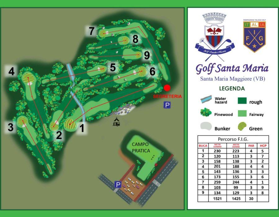 Golf Santa Maria - mappa